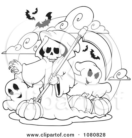 cute grim reaper coloring pages photo11