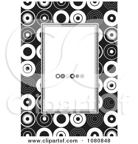 Clipart Black And White Circle Frame With Copyspace - Royalty Free Vector Illustration by BestVector