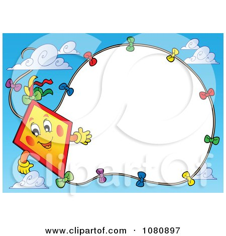 Clipart happy kite and string frame in a sky royalty free vector clipart happy kite and string frame in a sky royalty free vector illustration by visekart voltagebd Image collections