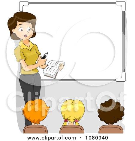 Female Science Teacher Clipart Female Teacher Teaching By A