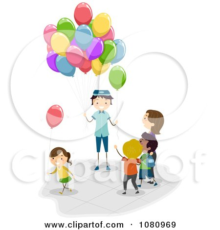 Royalty Free Illustrations of Balloons by BNP Design Studio #1