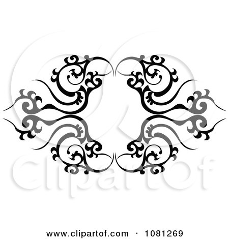 frame tattoo designs. Clipart Black And White Tribal Frame Tattoo Design Element - Royalty Free Vector Illustration By AtStockIllustration Designs I