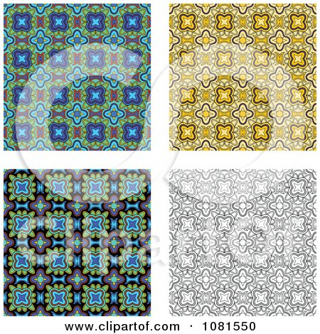 Clipart Set Of Seamless Pattern Background Designs 2 - Royalty Free Vector Illustration by Frisko