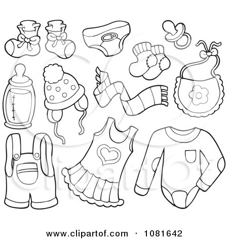 Simple Baby Clothes Coloring Pages