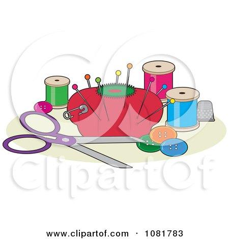 Sewing Button Clip Art