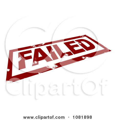 Clipart 3d Red Failed Stamp - Royalty Free CGI Illustration by BNP Design Studio