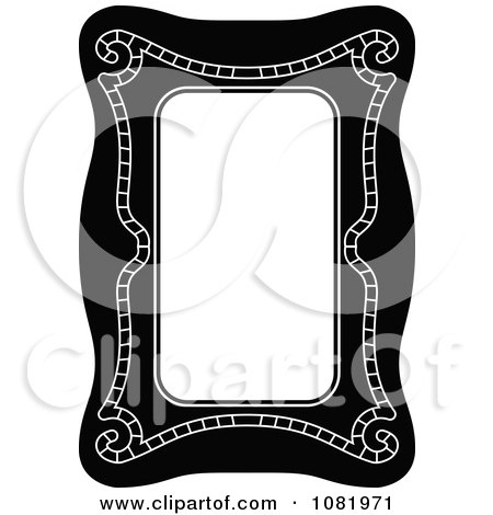 Clipart Black And White Frame Border With Copyspace 18 - Royalty Free Vector Illustration by Frisko