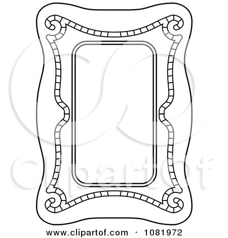 Clipart Black And White Frame Border With Copyspace 17 - Royalty Free Vector Illustration by Frisko