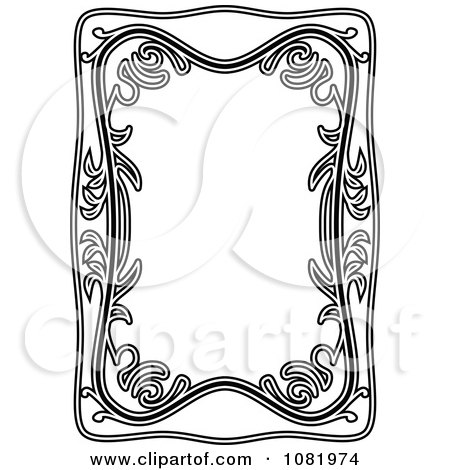 Clipart Black And White Frame Border With Copyspace 6 - Royalty Free Vector Illustration by Frisko