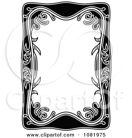 Clipart Black And White Frame Border With Copyspace 7 - Royalty Free Vector Illustration by Frisko