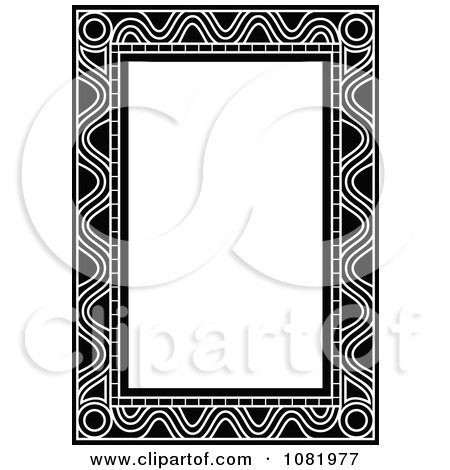 Clipart Black And White Frame Border With Copyspace 9 - Royalty Free Vector Illustration by Frisko