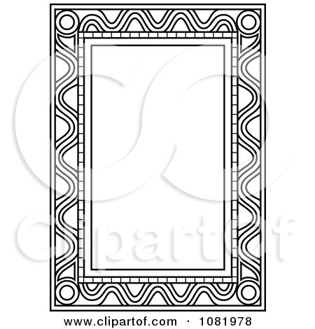 Clipart Black And White Frame Border With Copyspace 10 - Royalty Free Vector Illustration by Frisko