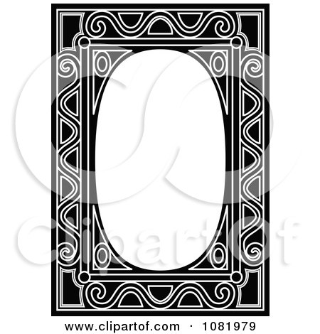 Clipart Black And White Frame Border With Copyspace 11 - Royalty Free Vector Illustration by Frisko