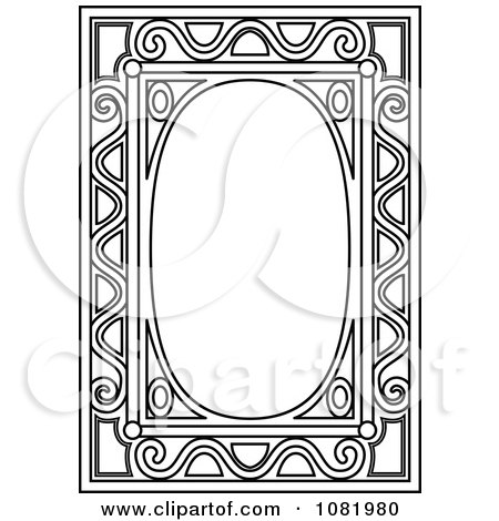 Clipart Black And White Frame Border With Copyspace 12 - Royalty Free Vector Illustration by Frisko
