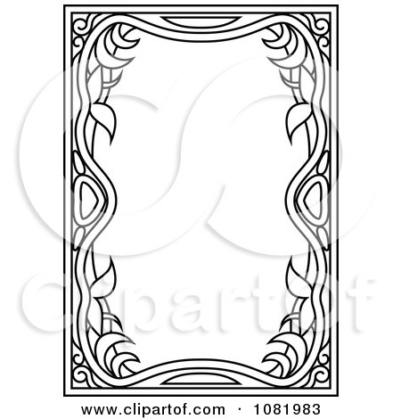 Clipart Black And White Frame Border With Copyspace 14 - Royalty Free Vector Illustration by Frisko