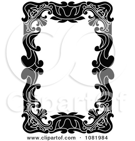 Clipart Black And White Frame Border With Copyspace 15 - Royalty Free Vector Illustration by Frisko