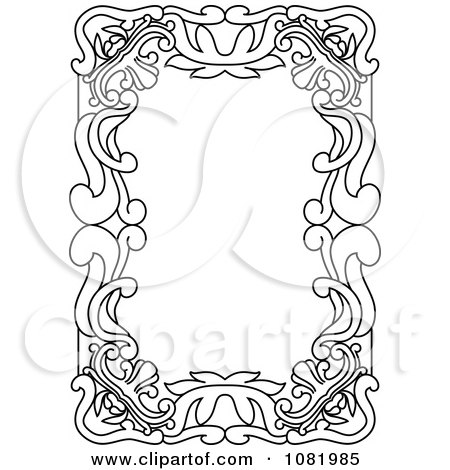 Clipart Black And White Frame Border With Copyspace 16 - Royalty Free Vector Illustration by Frisko