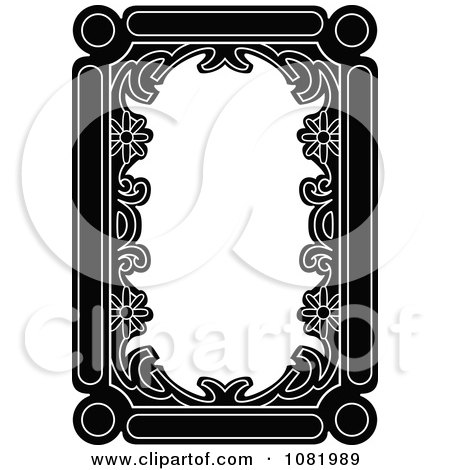Clipart Black And White Frame Border With Copyspace 1 - Royalty Free Vector Illustration by Frisko