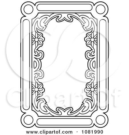 Clipart Black And White Frame Border With Copyspace 2 - Royalty Free Vector Illustration by Frisko