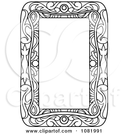 Clipart Black And White Frame Border With Copyspace 3 - Royalty Free Vector Illustration by Frisko