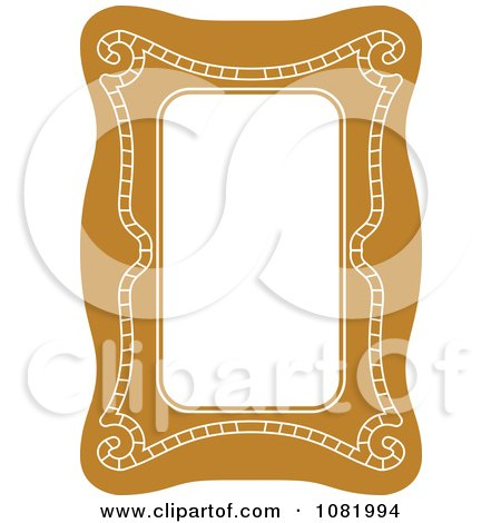 Clipart Brown Frame Border With Copyspace 1 - Royalty Free Vector Illustration by Frisko