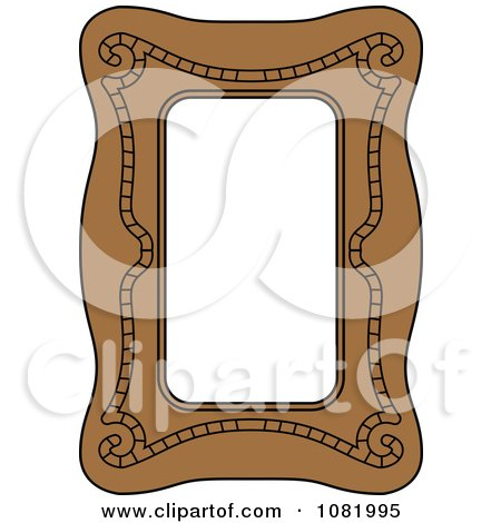 Clipart Brown Frame Border With Copyspace 2 - Royalty Free Vector Illustration by Frisko