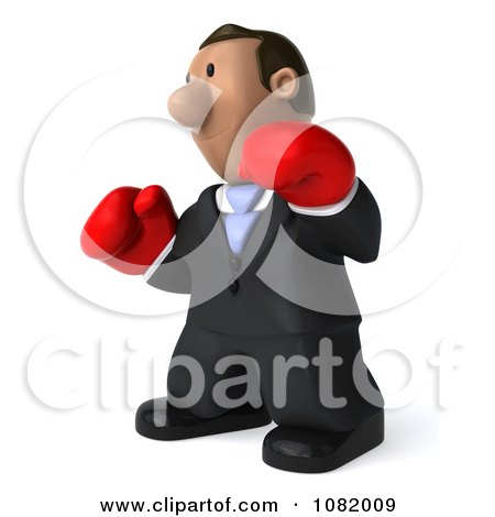 Clipart 3d Indian Business Guy Wering Boxing Gloves 2 - Royalty Free CGI Illustration by Julos