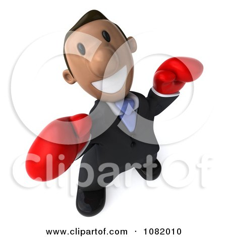 Clipart 3d Indian Business Guy Wearing Boxing Gloves 3 - Royalty Free CGI Illustration by Julos