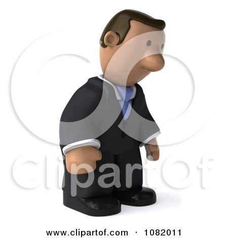 Clipart 3d Sad Indian Business Guy - Royalty Free CGI Illustration by Julos