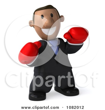 Clipart 3d Indian Business Guy Wering Boxing Gloves 1 - Royalty Free CGI Illustration by Julos