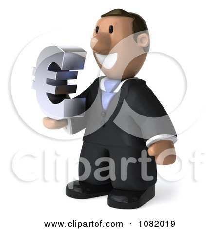 Clipart 3d Indian Business Guy Holding A Euro Symbol 2 - Royalty Free CGI Illustration by Julos