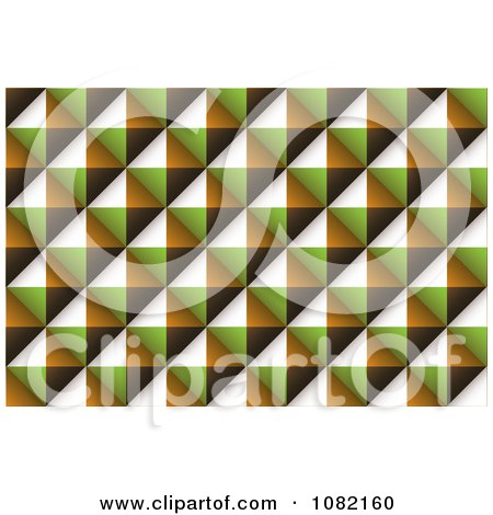 Clipart Diamond Brown Green And Orange Texture Background - Royalty Free Vector Illustration by michaeltravers