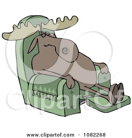 Moose Sleeping In A Recliner Chair  sc 1 st  Clipart Of & Royalty Free Sleep Illustrations by djart Page 1 islam-shia.org