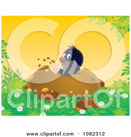 Clipart Gopher Digging Out A Den - Royalty Free Illustration by Alex Bannykh