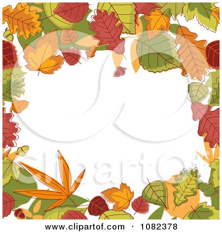Clipart Autumn Border Of Colorful Leaves Around Copyspace - Royalty Free Vector Illustration by Vector Tradition SM
