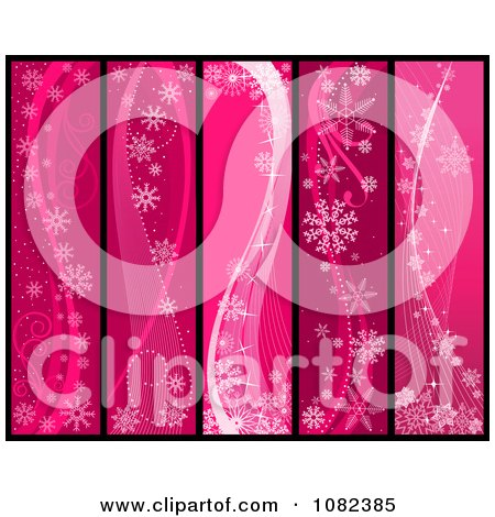 Clipart Pink Snowflake Winter