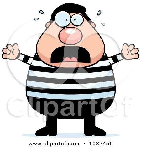 Clipart Chubby French Man Freaking Out - Royalty Free Vector Illustration by Cory Thoman