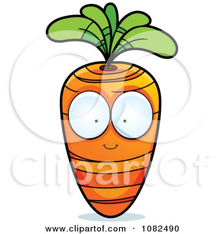Clipart Carrot Character - Royalty Free Vector Illustration by Cory Thoman