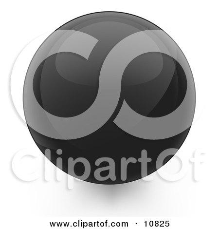 Black 3D Sphere Internet Button Posters, Art Prints
