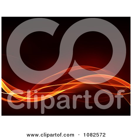 Clipart Fiery Waves Flowing Over Black - Royalty Free CGI Illustration by chrisroll