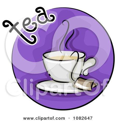 Clipart Tea Blog Icon - Royalty Free Vector Illustration by BNP Design Studio