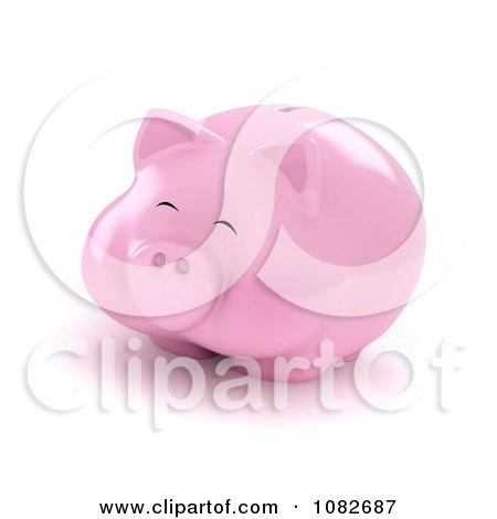 Clipart 3d Fat Piggy Bank - Royalty Free CGI Illustration by BNP Design Studio