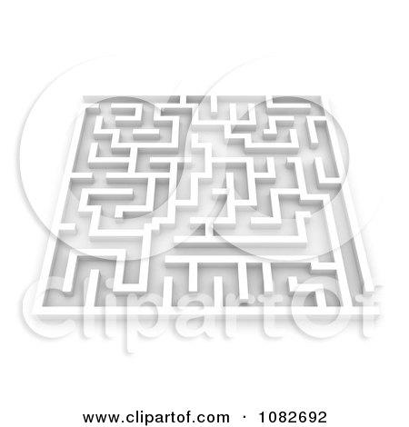 Clipart 3d White Maze - Royalty Free CGI Illustration by BNP Design Studio