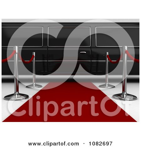 Clipart 3d Limo Parked At The End Of A Red Carpet - Royalty Free CGI Illustration by BNP Design Studio