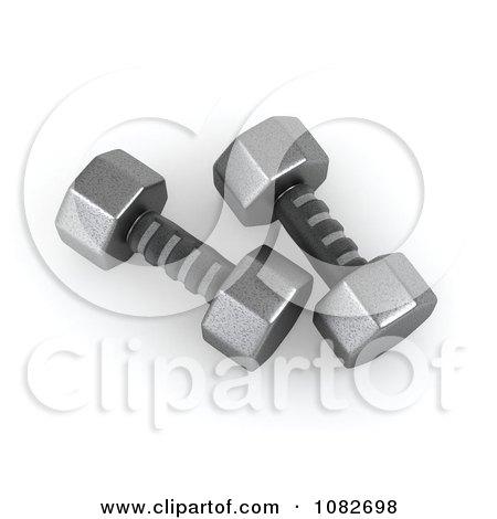 Clipart 3d Iron Dumbbells - Royalty Free CGI Illustration by BNP Design Studio