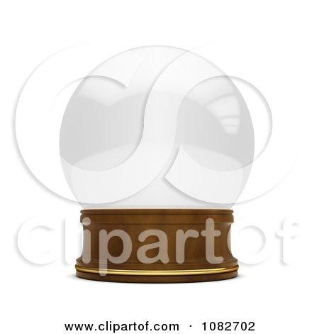 Clipart 3d Empty Snow Globe - Royalty Free CGI Illustration by BNP Design Studio