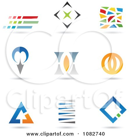 Clipart Abstract Shape Logos - Royalty Free Vector Illustration by cidepix