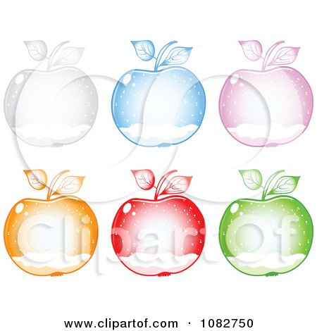 Clipart Colorful Snow Globe Apples - Royalty Free Vector Illustration by Andrei Marincas