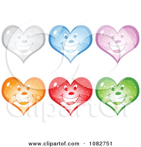 Clipart Colorful Happy Snow Globe Hearts - Royalty Free Vector Illustration by Andrei Marincas