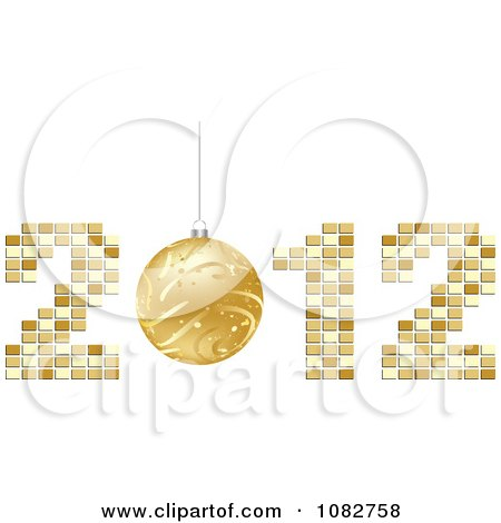 Clipart Golden New Year Bauble In 2012 - Royalty Free Vector Illustration by Andrei Marincas